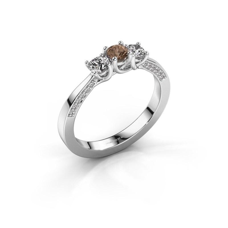 Verlobungsring Rivka 585 Weißgold Braun Diamant 0.50 crt