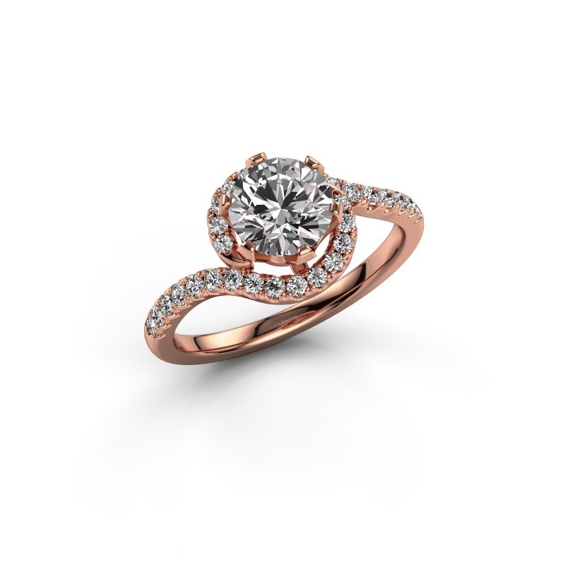 Engagement ring Elli 375 rose gold diamond 1.31 crt