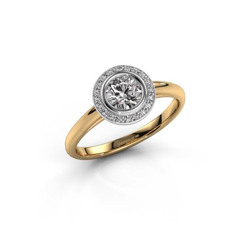 Promise ring Noud 1 RND 585 goud diamant 0.60 crt