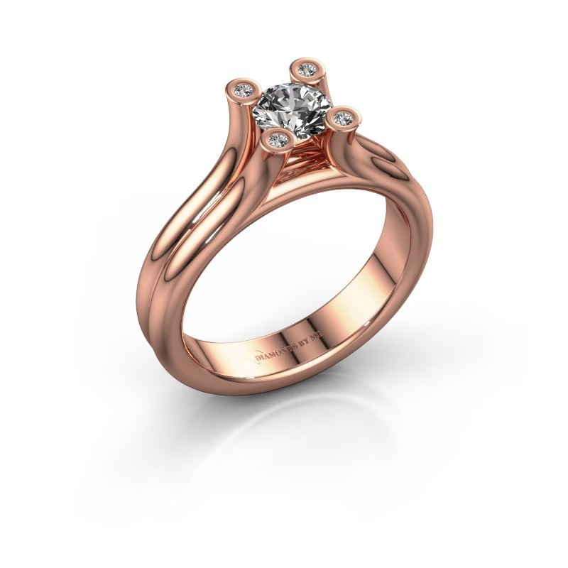 Engagement ring Stefanie 1 375 rose gold diamond 0.50 crt