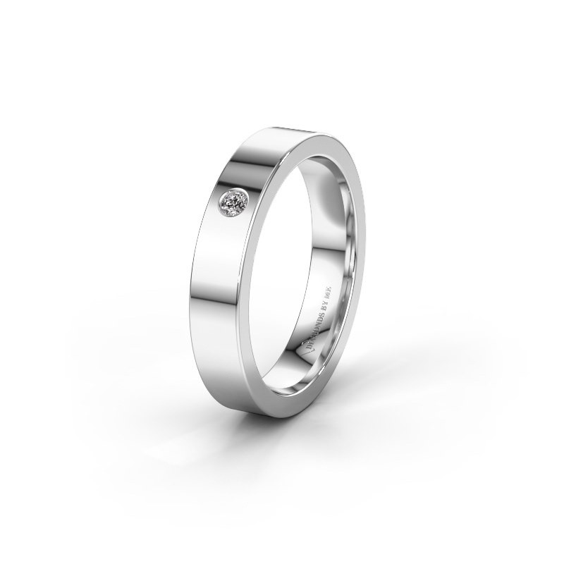 Alliance WH0101L14BP 925 argent diamant synthétique ±4x1.5 mm