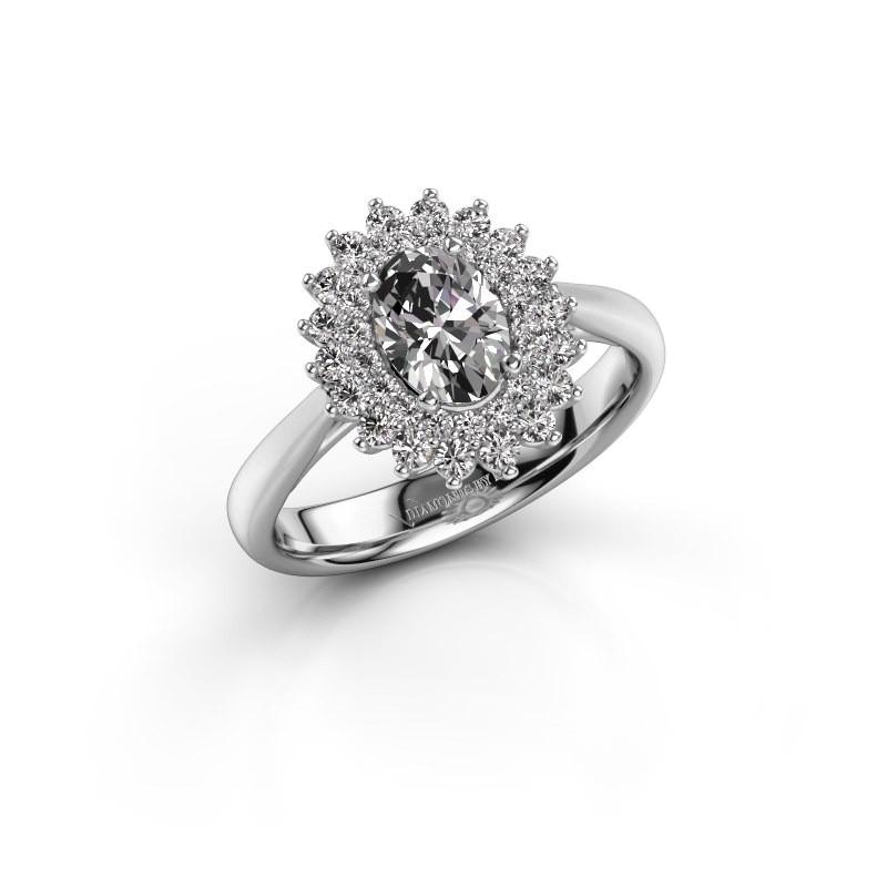 Verlovingsring Alina 1 585 witgoud lab-grown diamant 0.80 crt