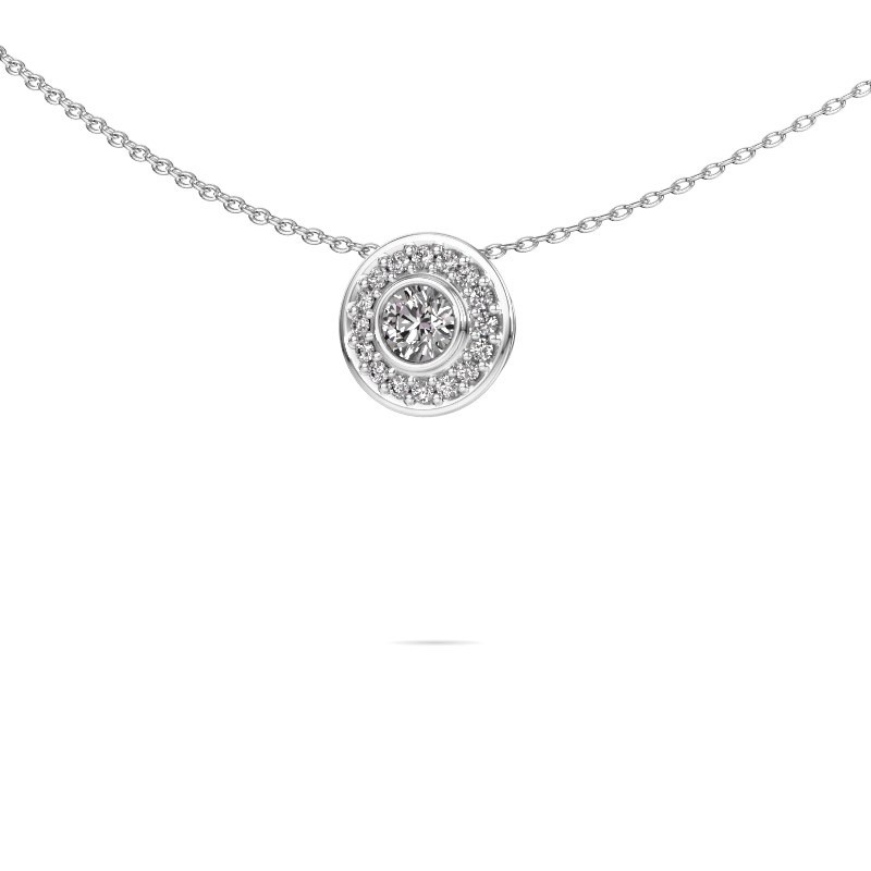 Ketting Gretta 585 witgoud lab-grown diamant 0.37 crt