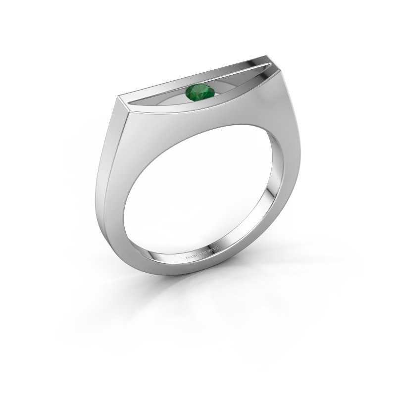 Ring Milou 585 white gold emerald 3 mm