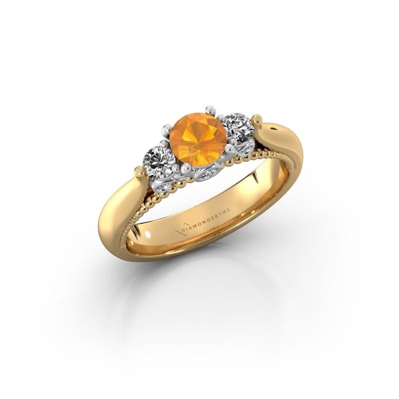 Verlovingsring Tiffani 585 goud citrien 5 mm