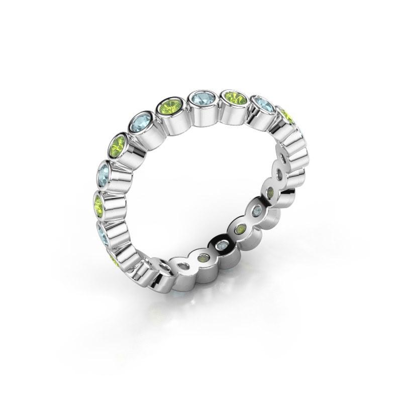 Ring Liz 585 witgoud peridoot 2 mm
