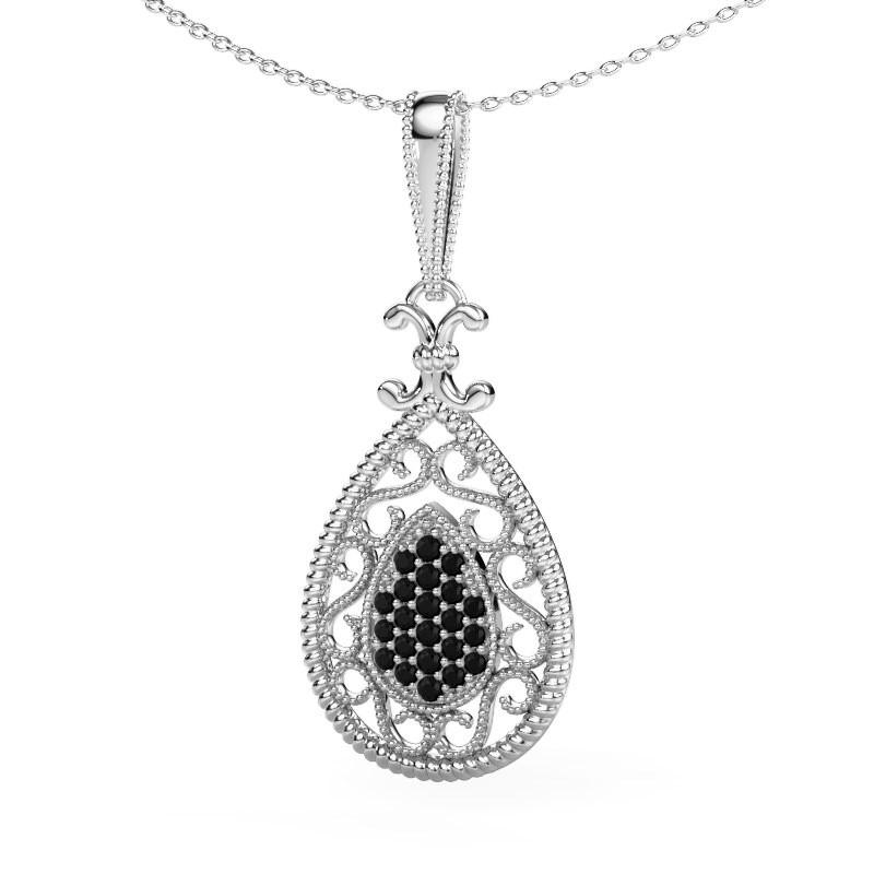 Anhänger Tammie 925 Silber Schwarz Diamant 0.324 crt