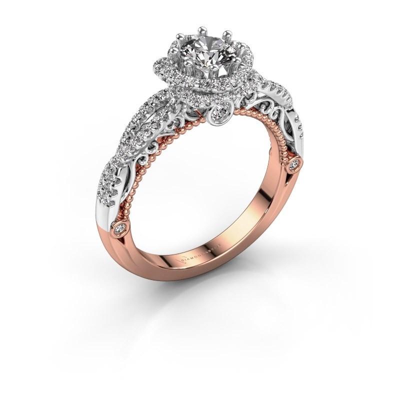 Engagement ring Lysanne 585 rose gold lab-grown diamond 0.95 crt