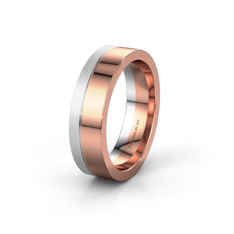 Wedding ring WH0329M16B 585 rose gold ±0.24x0.08 in