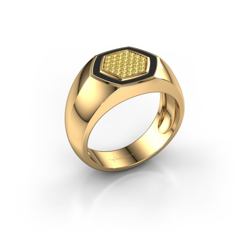 Heren ring Kris 375 goud gele saffier 1.1 mm