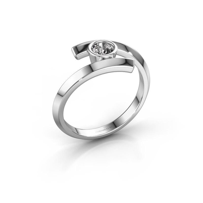 Ring Mara 585 witgoud diamant 0.25 crt