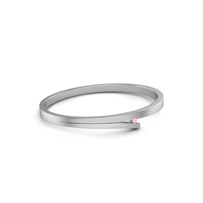 Slavenarmband Rosario 950 platina roze saffier 3 mm