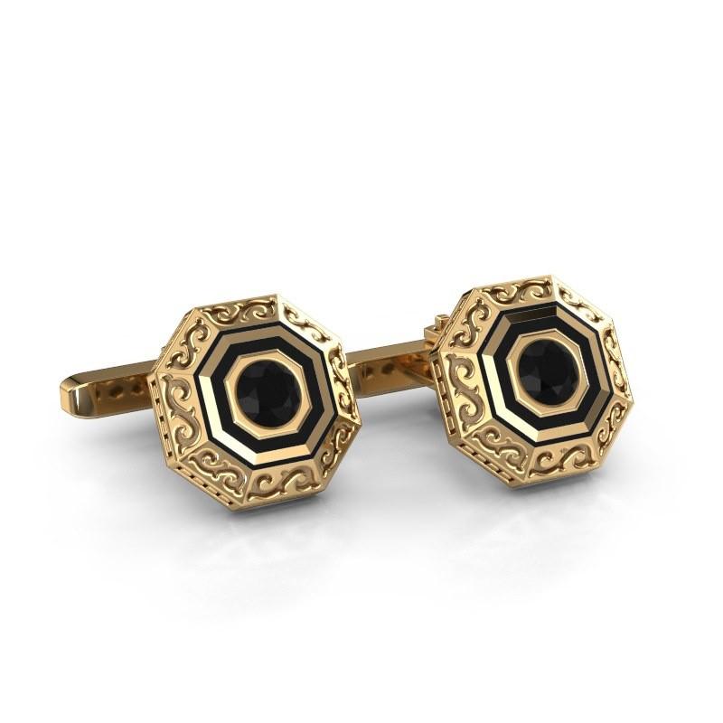 Cufflinks Dion 585 gold black diamond 1.20 crt