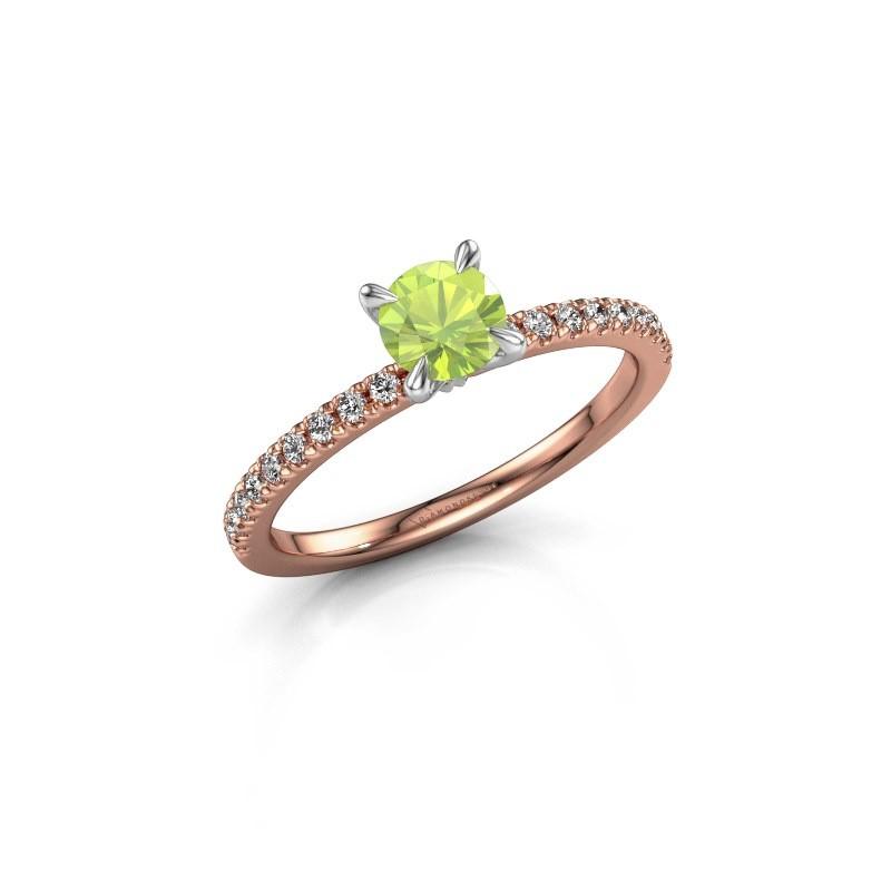 Verlobungsring Crystal rnd 2 585 Roségold Peridot 5 mm