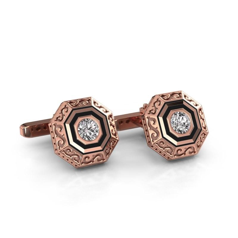 Cufflinks Dion 375 rose gold lab grown diamond 1.00 crt