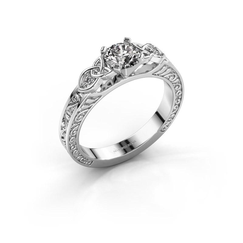 Engagement ring Gillian 585 white gold diamond 0.52 crt