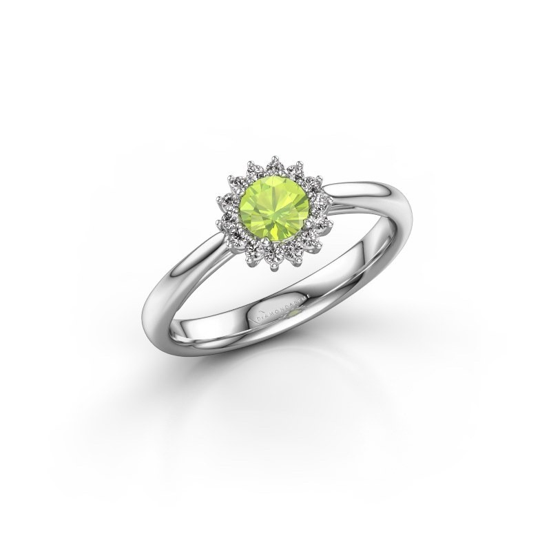 Engagement ring Tilly RND 1 585 white gold peridot 4.2 mm