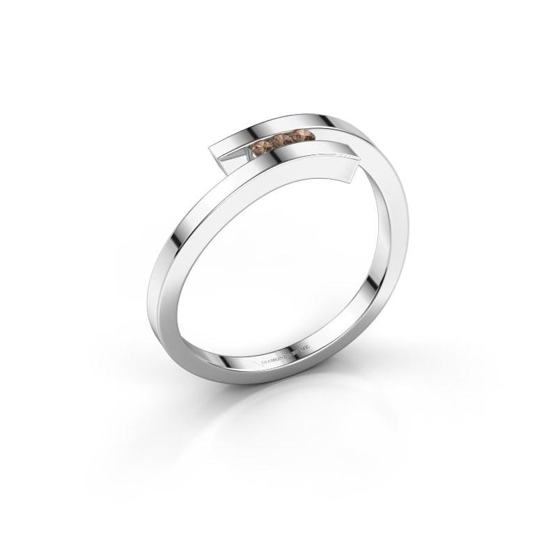 Ring Juliette 585 witgoud bruine diamant 0.042 crt