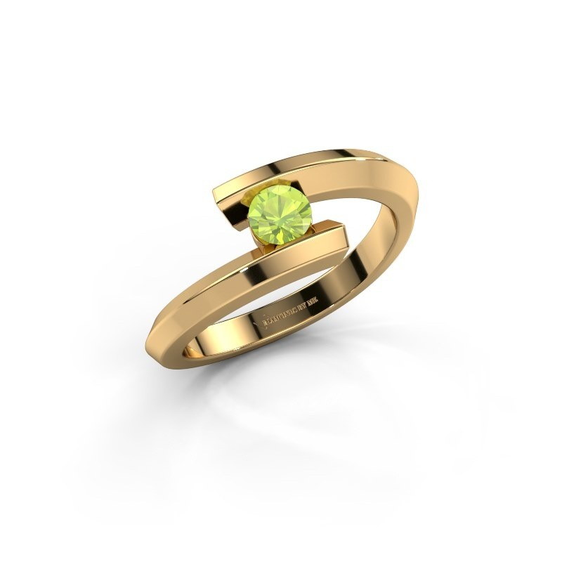 Ring Paulette 585 goud peridoot 3.4 mm