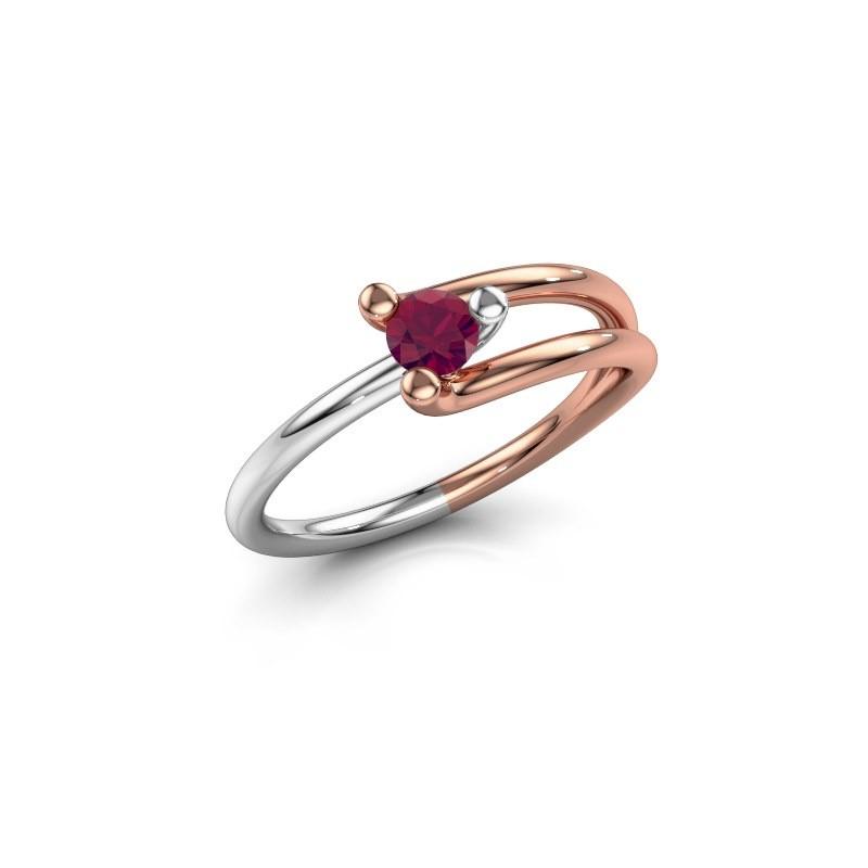 Ring Roosmarijn 585 Roségold Rhodolit 3.7 mm
