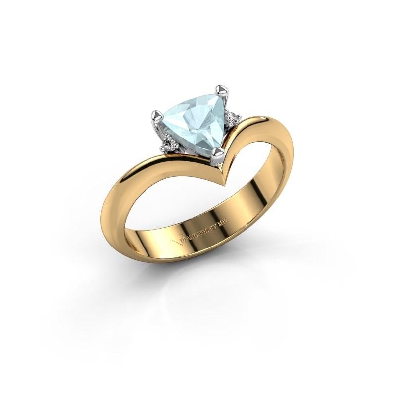 Ring Arlette 585 goud aquamarijn 7 mm