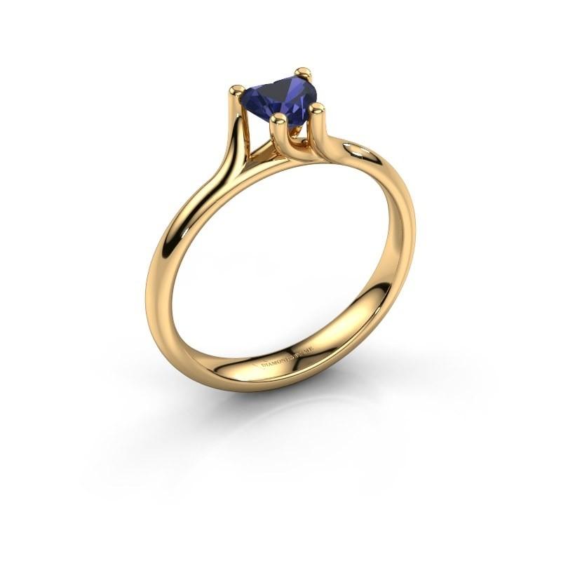 Verlobungsring Dewi Heart 375 Gold Saphir 5 mm