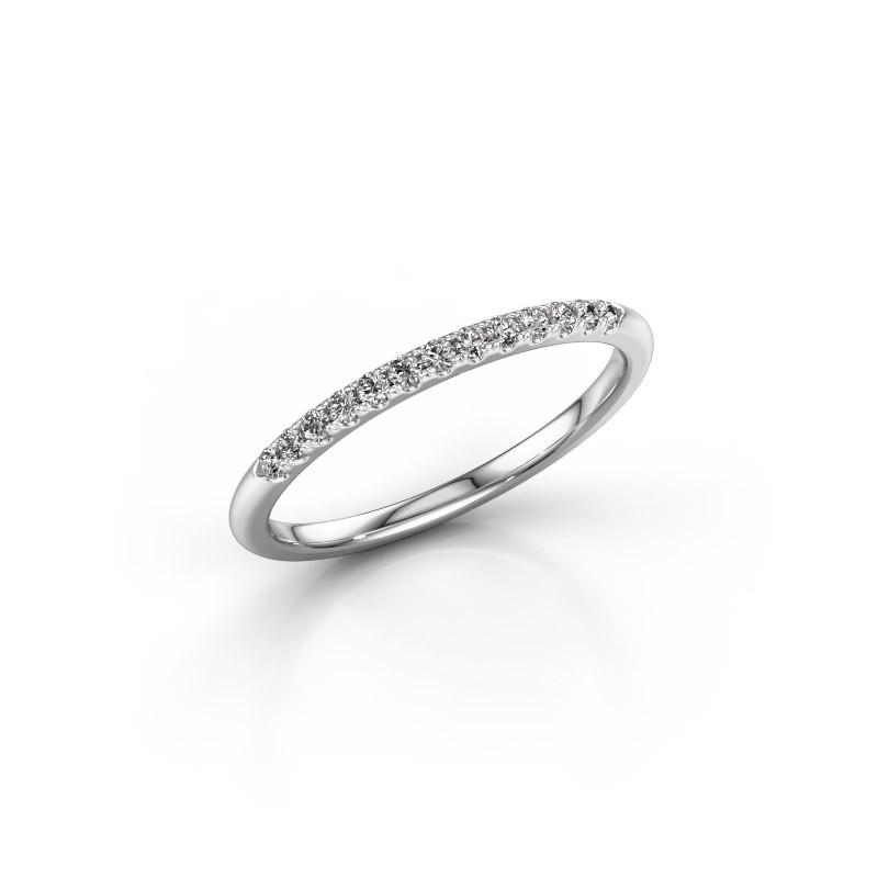 Stackable ring SR10B6H 950 platinum lab grown diamond 0.156 crt