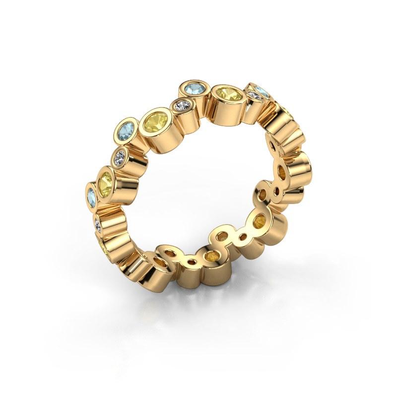 Ring Tessa 585 goud gele saffier 2.5 mm