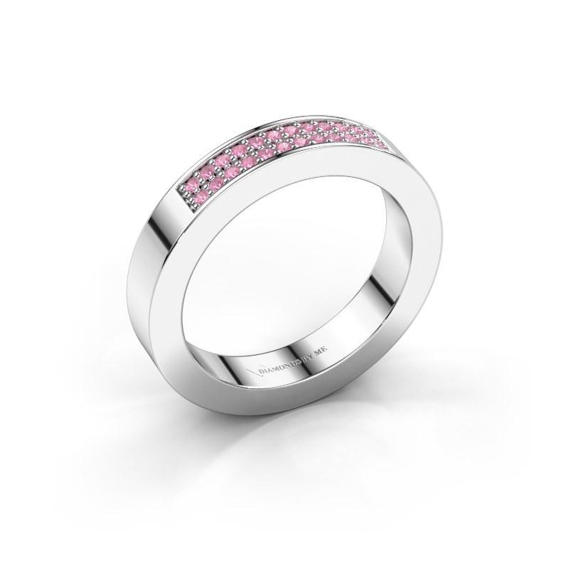Aanschuifring Catharina 1 950 platina roze saffier 1.1 mm