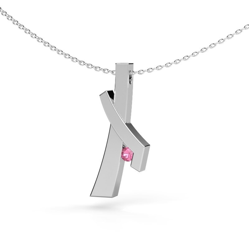 Anhänger Alyssa 925 Silber Pink Saphir 2.7 mm