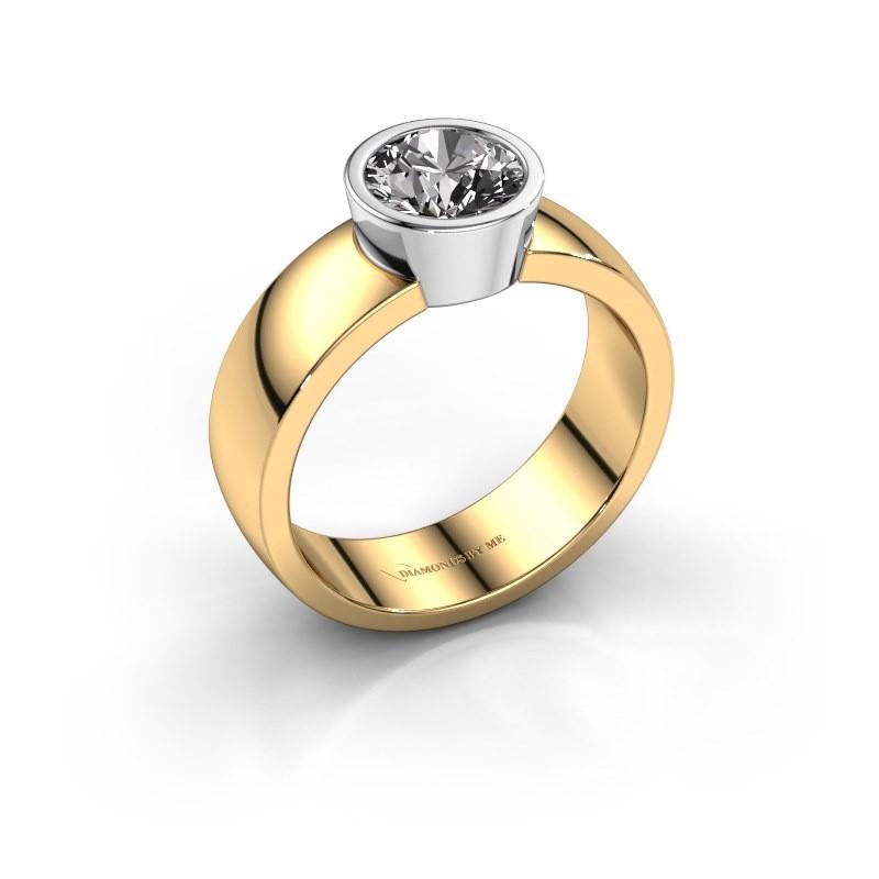 Ring Ise 1 585 goud diamant 1.00 crt