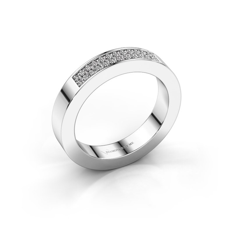 Stackable ring Catharina 1 585 white gold diamond 0.16 crt