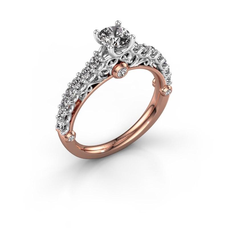Verlovingsring Shaunda 585 rosé goud diamant 1.00 crt