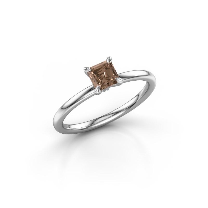 Verlobungsring Crystal ASS 1 585 Weißgold Braun Diamant 0.75 crt