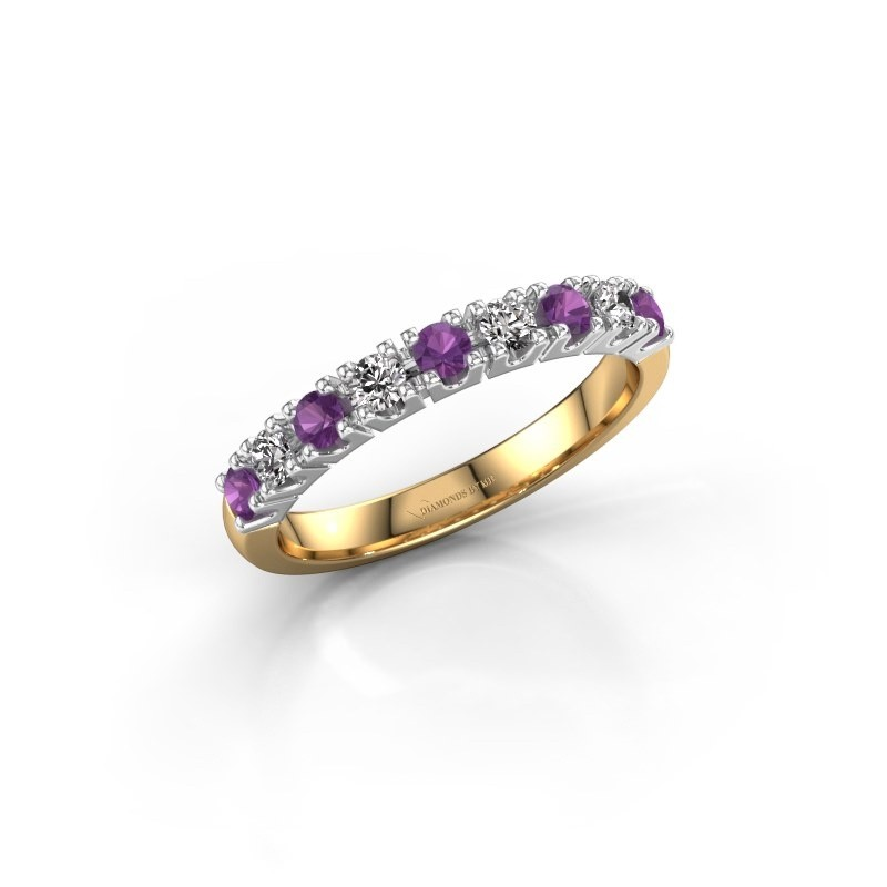 Engagement ring Rianne 9 585 gold amethyst 2.4 mm