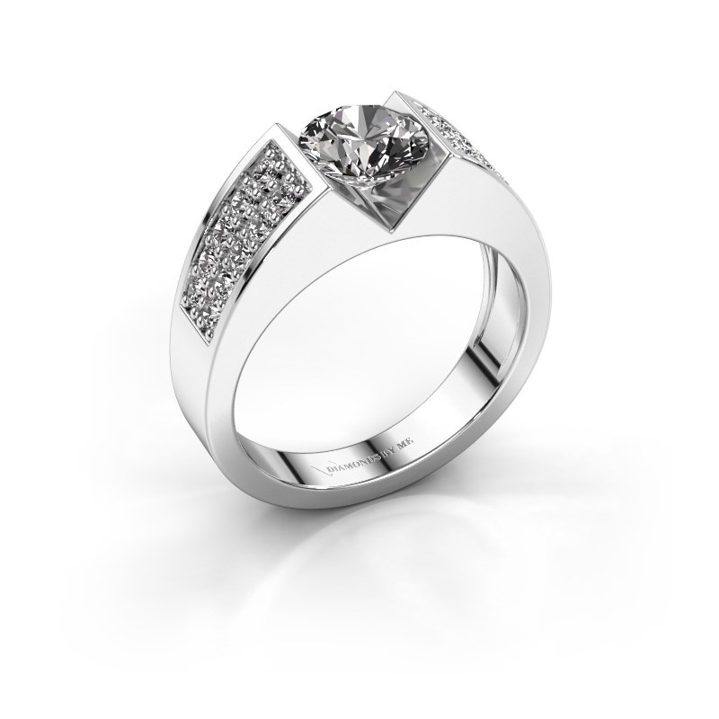 Engagement ring Lizzy 3 925 silver diamond 1.40 crt