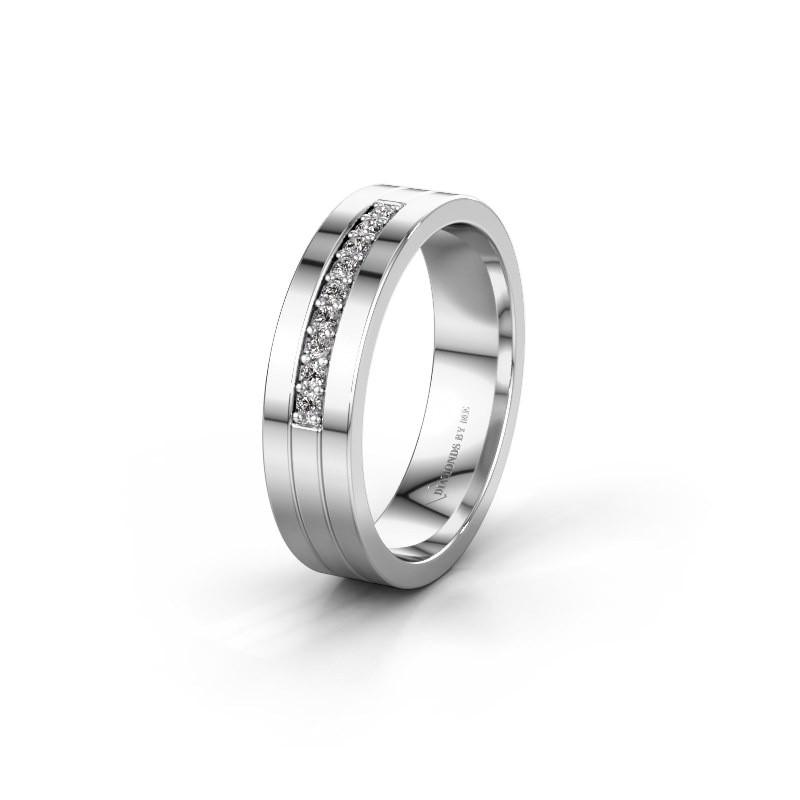 Trouwring WH0413L15AP 925 zilver lab-grown diamant ±5x1.7 mm
