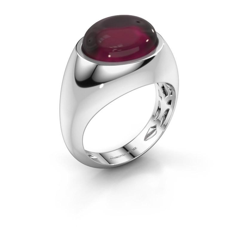 Ring Laurien 925 zilver rhodoliet 12x10 mm