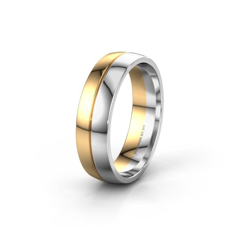 Wedding ring WH0200M26AP 585 gold ±0.24x0.07 in