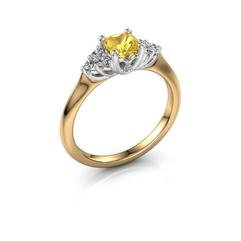 Verlobungsring Felipa CUS 585 Gold Gelb Saphir 5 mm