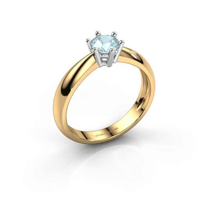 Verlovingsring Fay 585 goud aquamarijn 5 mm