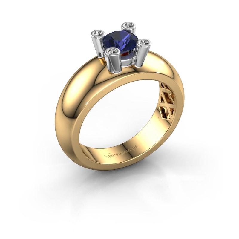 Ring Cornelia Round 585 gold sapphire 5 mm