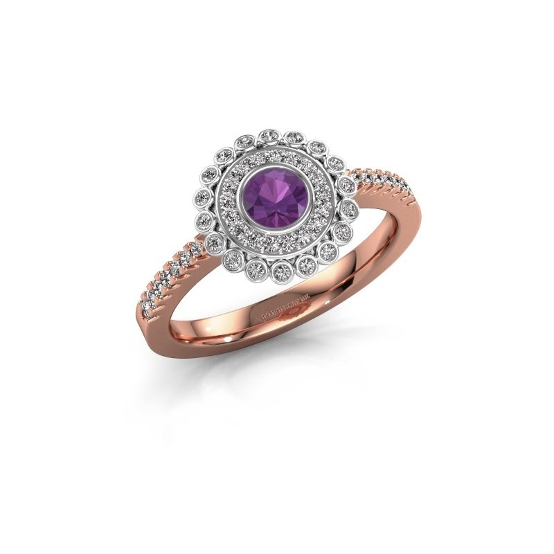 Engagement ring Shanelle 585 rose gold amethyst 4 mm