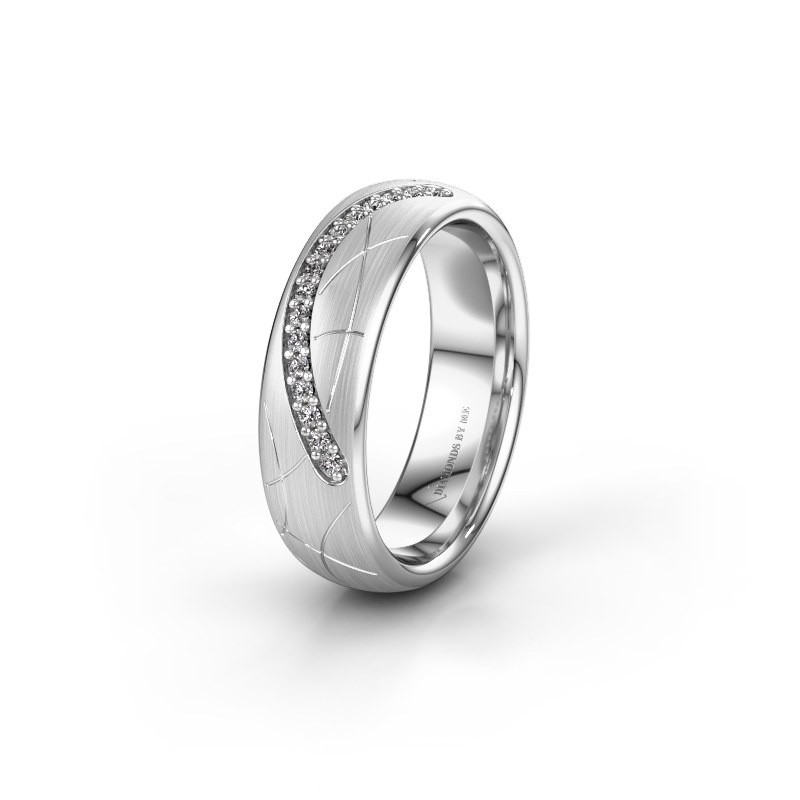 Trouwring WH2060L36CM 925 zilver diamant ±6x2.2 mm