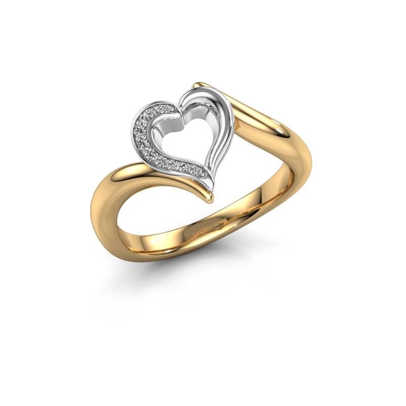 Ring Katlyn 585 gold diamond 0.038 crt