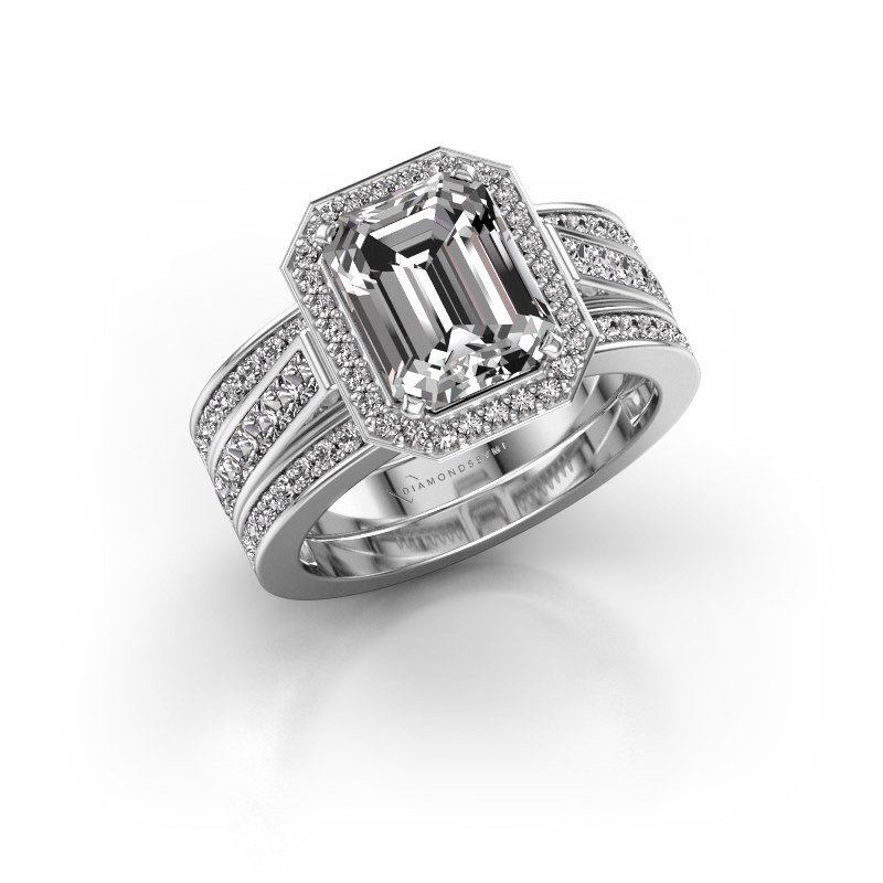 Ring Dodie 3 585 witgoud lab-grown diamant 3.49 crt