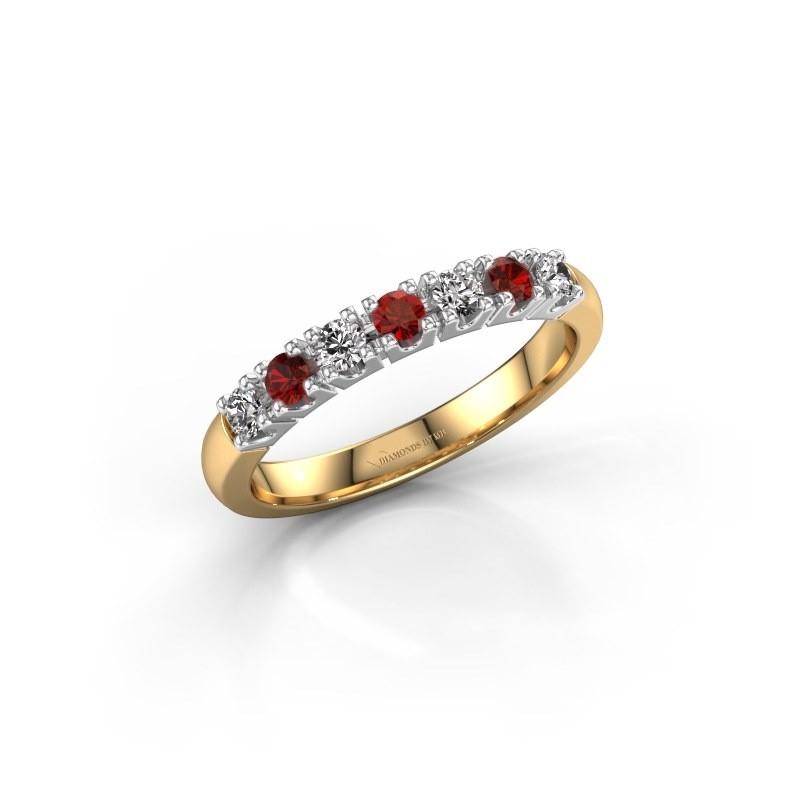 Engagement ring Rianne 7 585 gold garnet 2.4 mm