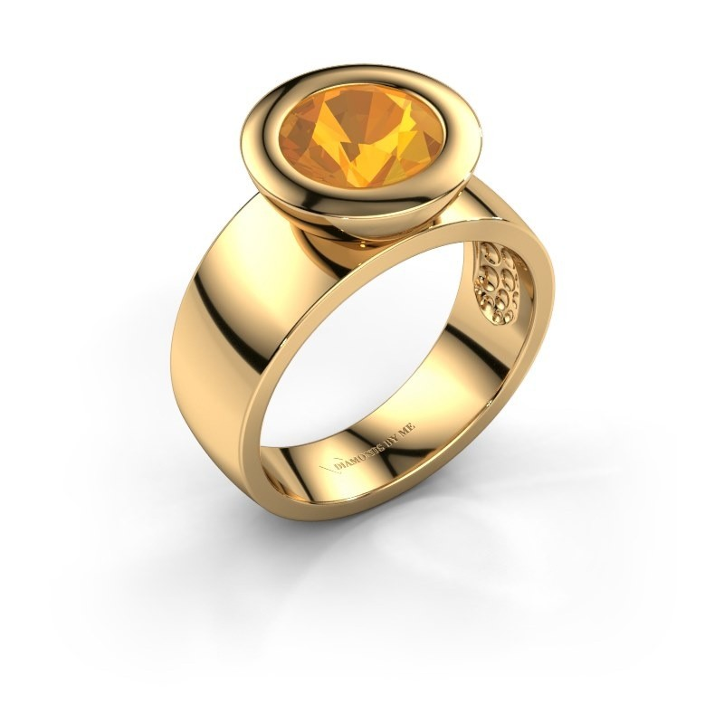 Ring Maxime 585 gold citrin 8 mm
