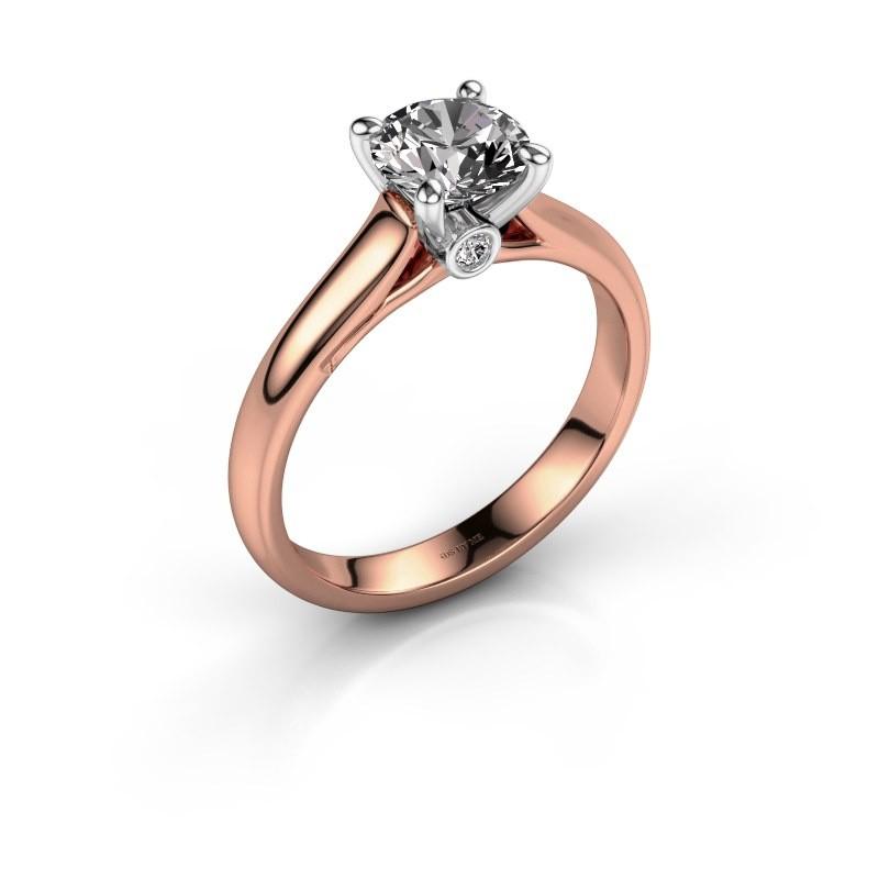 Verlobungsring Valorie 1 585 Roségold Diamant 1.00 crt