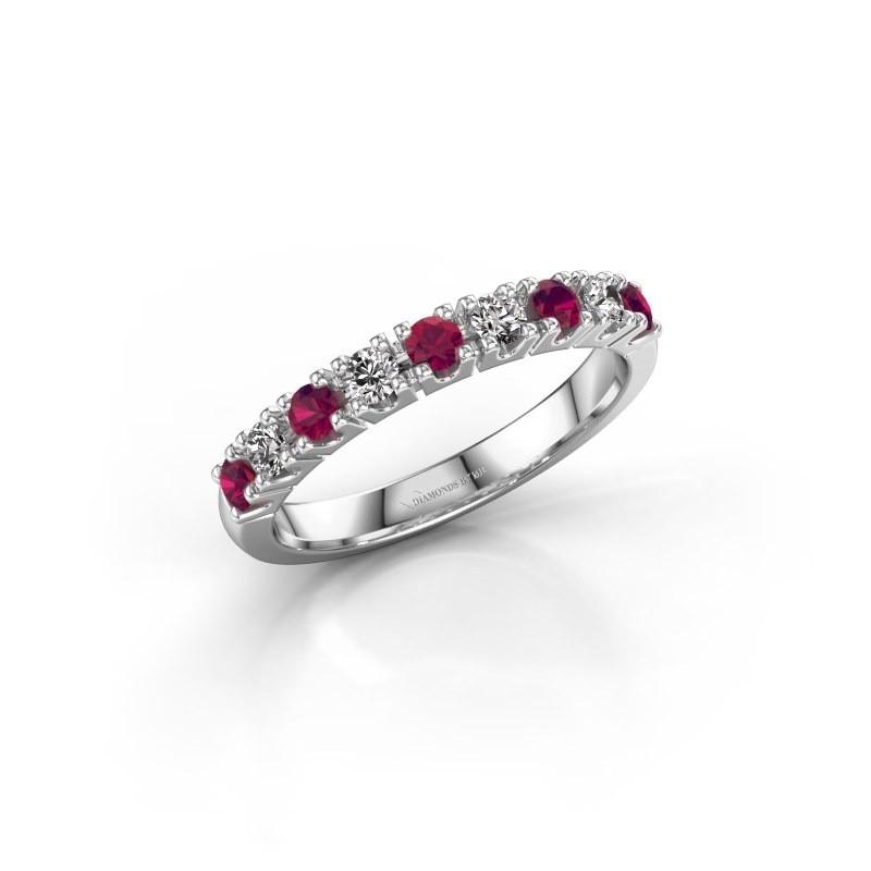 Engagement ring Rianne 9 925 silver rhodolite 2.4 mm